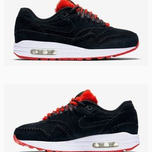 Nike's Sherpa Air Max 1s Style Furry Red Tongue